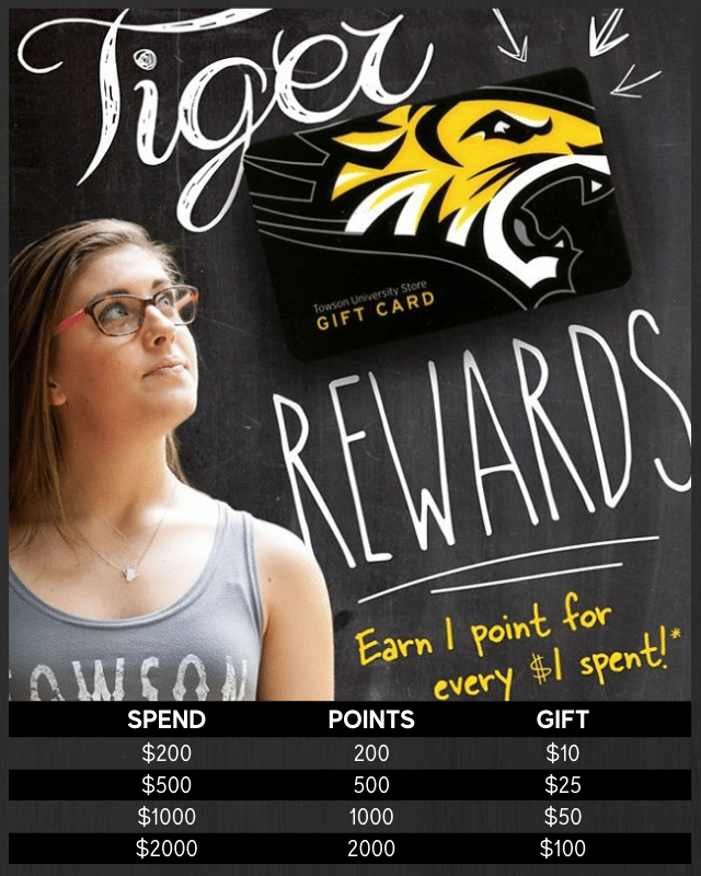 Earn 1 point for every $1 spent!