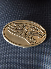 Image For FINE PEWTER BELT BUCKLE