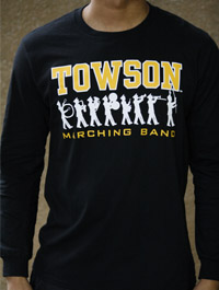 Image For T SHIRT LSLV MARCHING BND