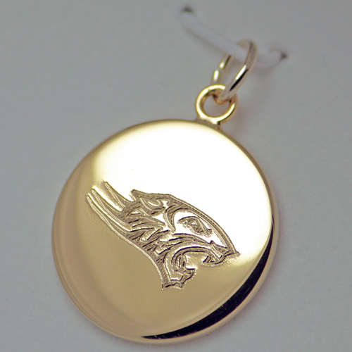 Image For ENGRAVED CHARM MASCOT GOLD